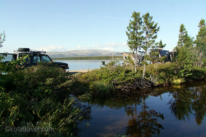 4wd 4x4 off-road northwest russia kola peninsula murmansk region russian lapland