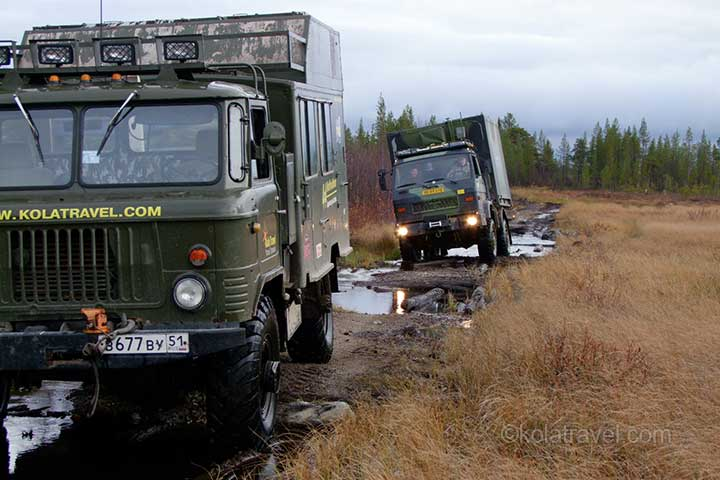 campers wohnmobile 4wd 4x4 off-road nordwest russland kola halbinsel murmansk region russisch lappland