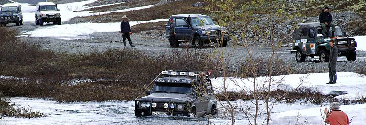 4wd 4x4 off-road nordwest russland kola halbinsel murmansk region russisch lappland