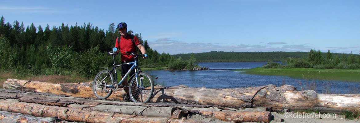 Long distance biking cycling mountainbiking tours in Northwest Russia Kola Peninsula Russian Lapland Murmansk Sankt Petersburg
