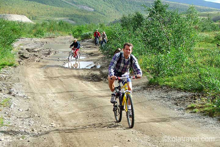 kola peninsula, monchegorsk, mountains, biking, biking excursion, excursion, russia
